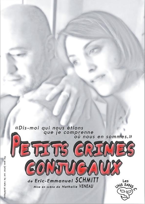 Affiche de la pièce Petits Crimes Conjugaux